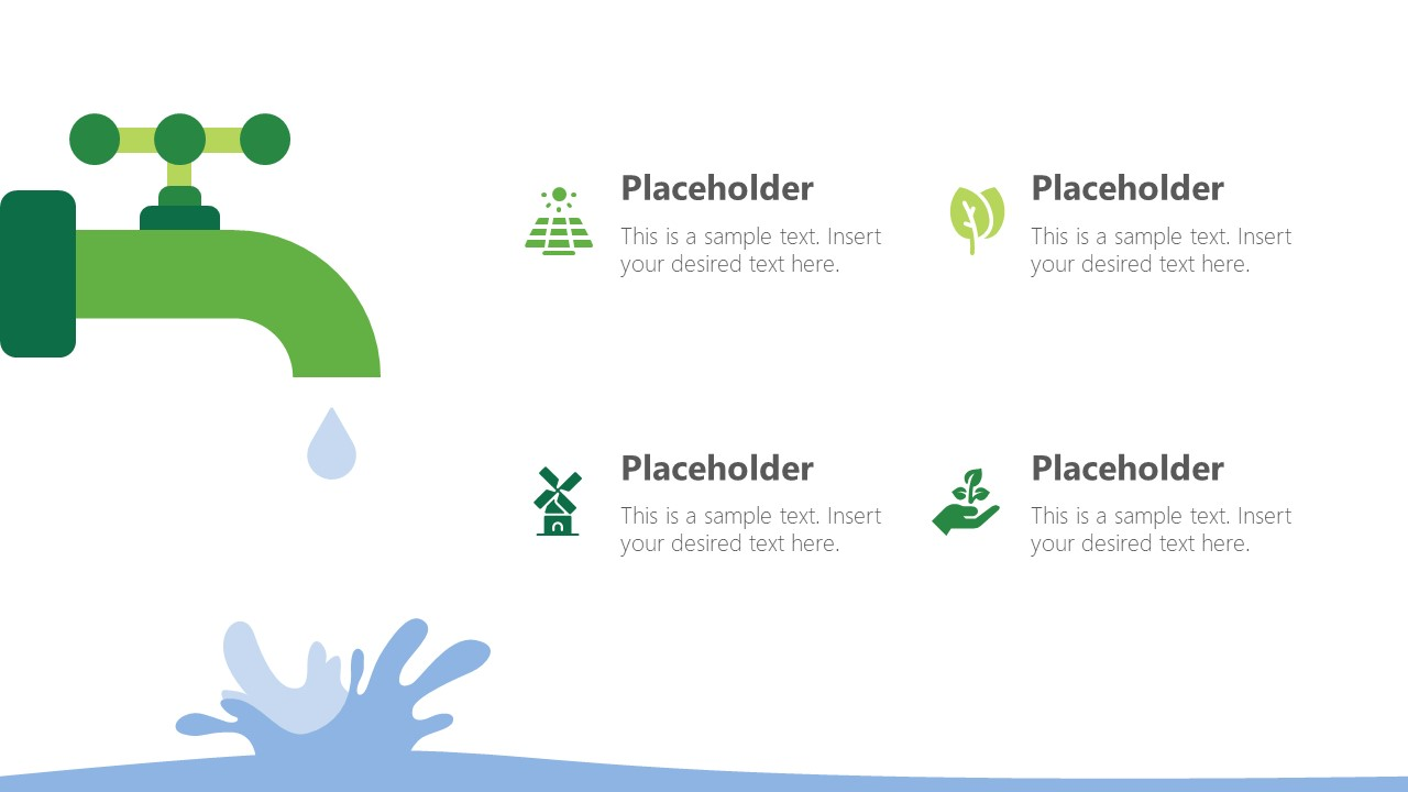 Water Concepts in Ecology PowerPoint Shapes