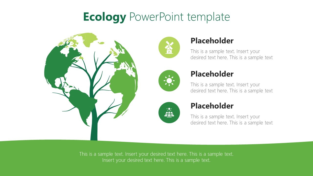 Earth Tree Shape Template