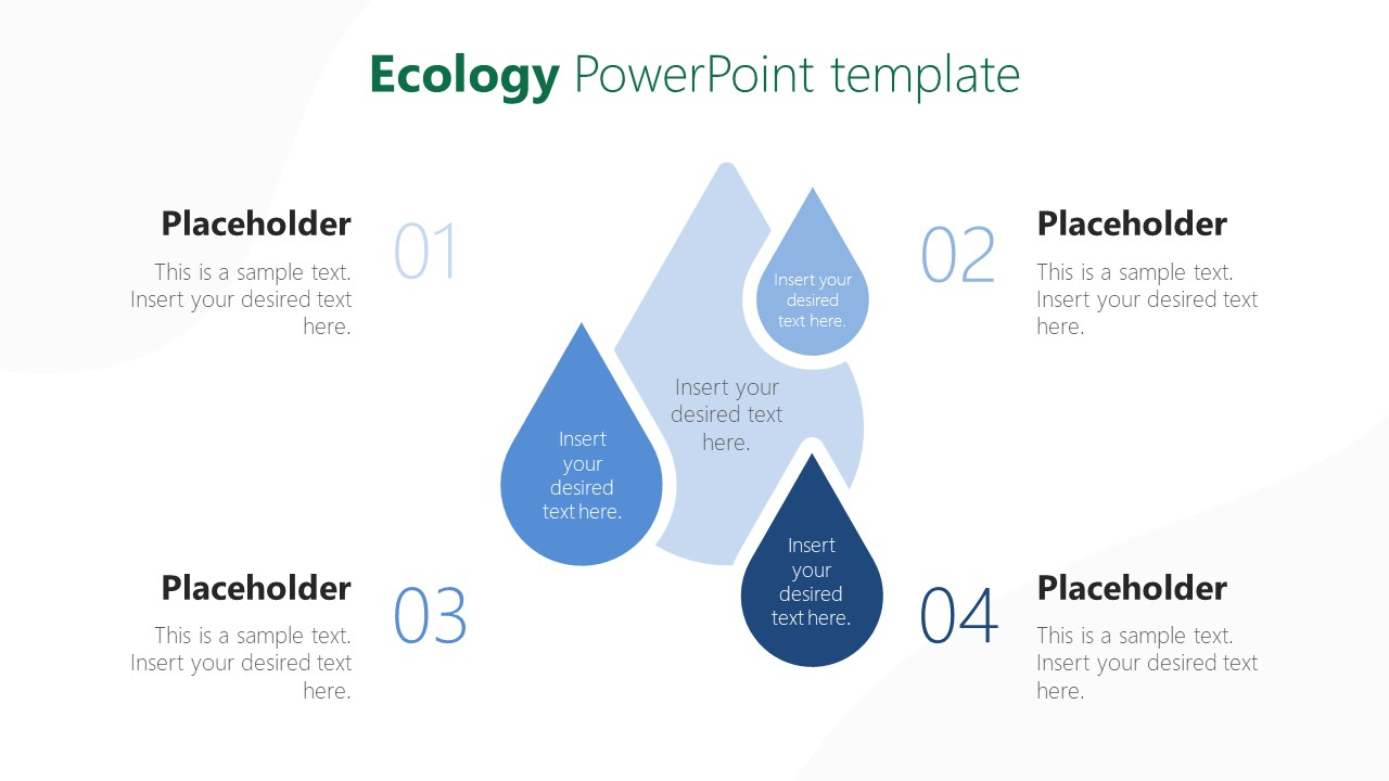 Water Drops Template for Ecology Concept