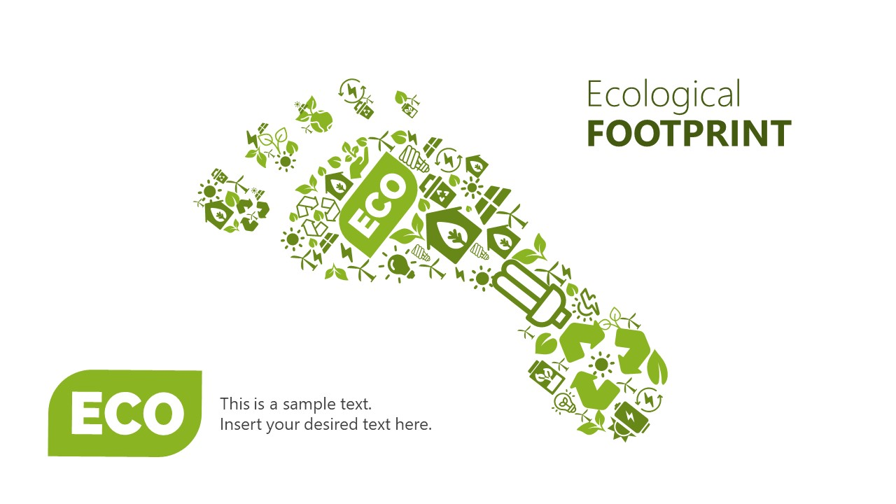 Useful Icons of Ecological Footprint Shape