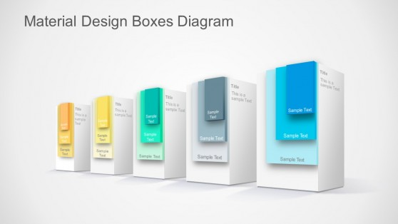 PowerPoint Template Material Design Shapes