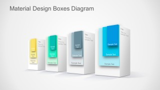 PPT Templates Boxes Material Design