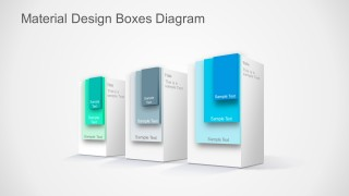PPT Templates Layered Boxes Material Design