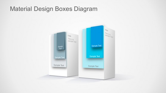 Material Design Editable Layered Boxes for PowerPoint
