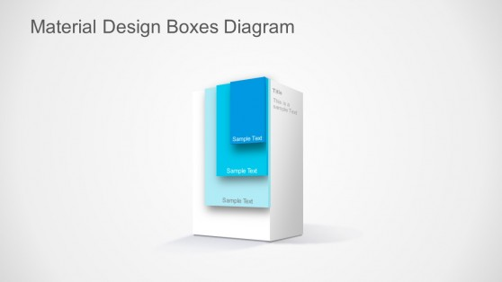 3D Material Design Layered Box for PowerPoint