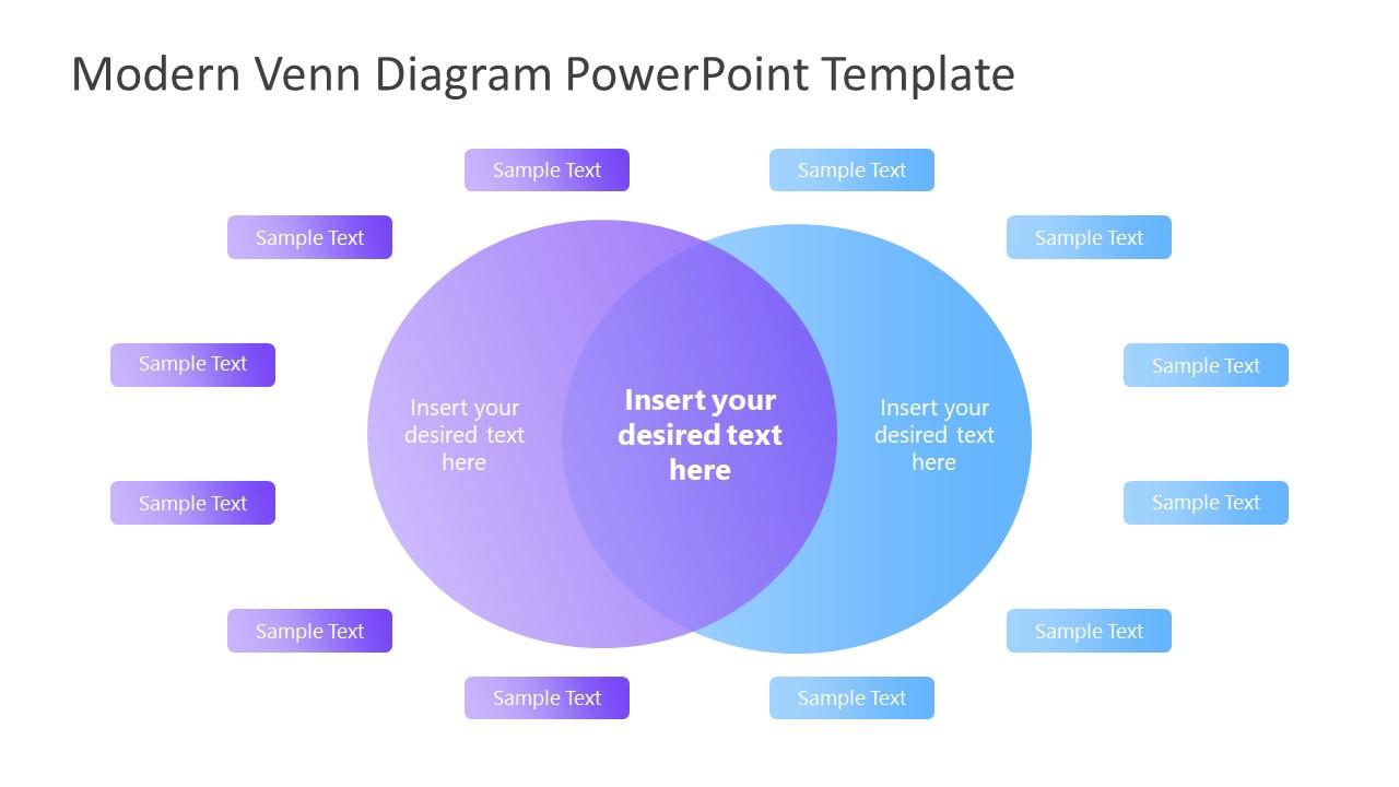 Gradient Template of Venn Diagram