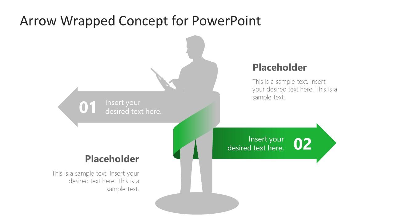 Arrow 2 PowerPoint DIagram Ribbon
