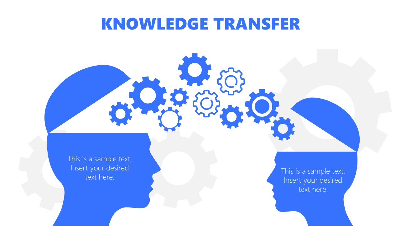 Mentoring PowerPoint Diagram of Knowledge Sharing