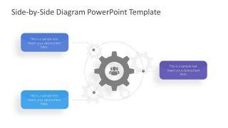 3 Steps Core Concept PowerPoint Diagram