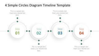 4 Simple Circles Diagram Timeline Template