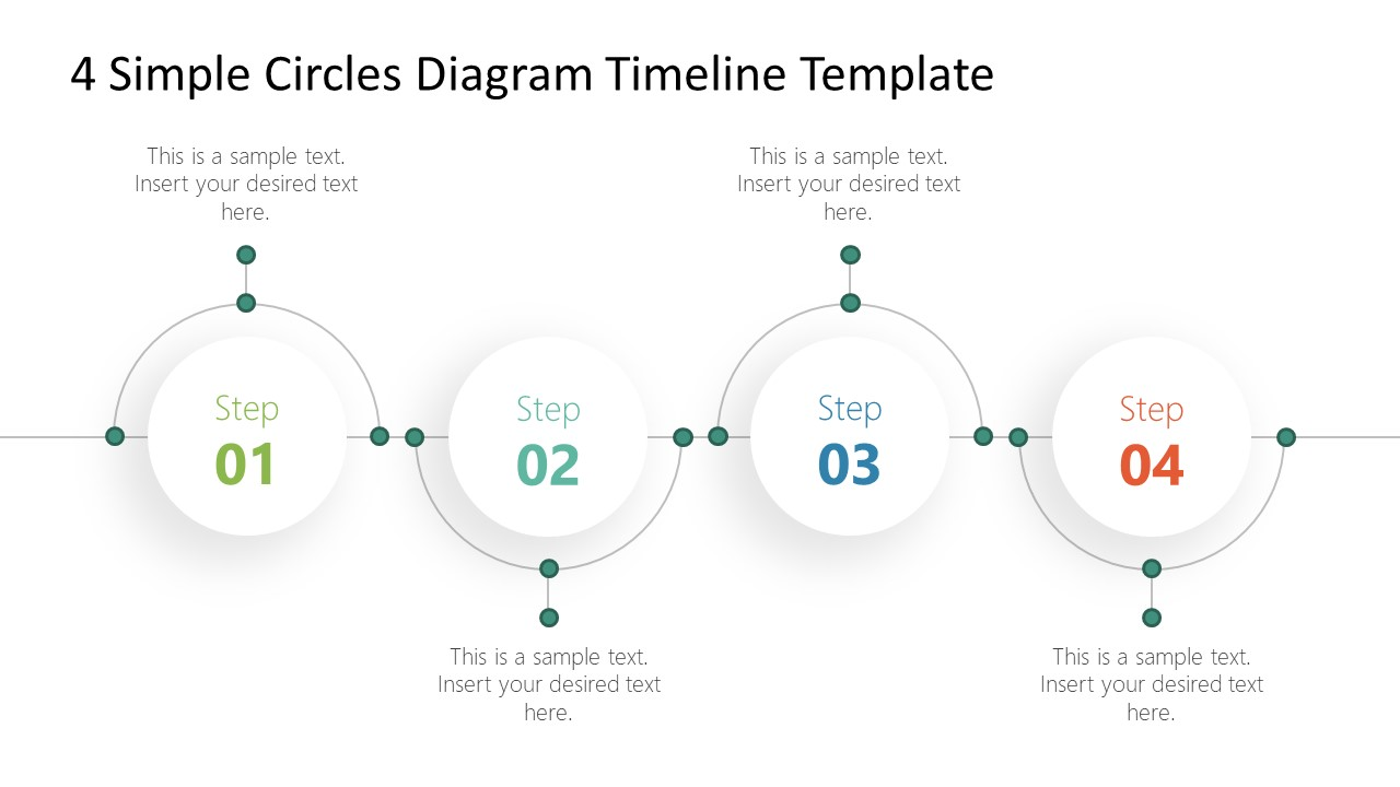 4 Milestones Roadmap PowerPoint