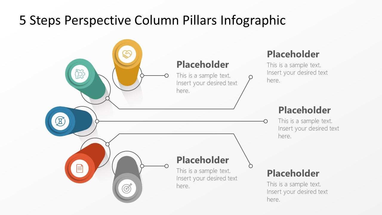 5 Steps 3D Perspective Pillars Template
