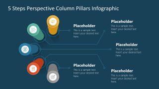 Editable Diagram Template 5 Steps Pillar