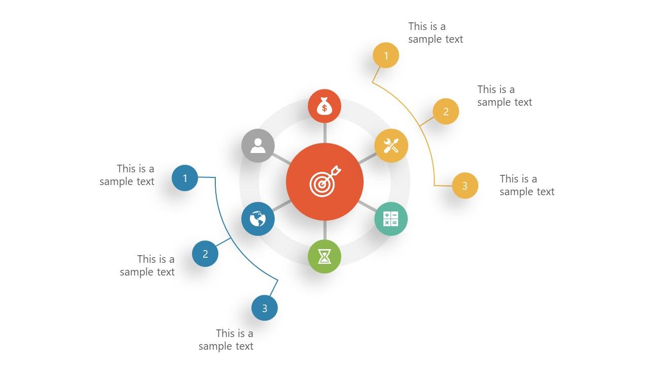 Circular PowerPoint Diagram in Star Shape