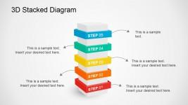 5 Steps Multi-Level Diagram for Presentations