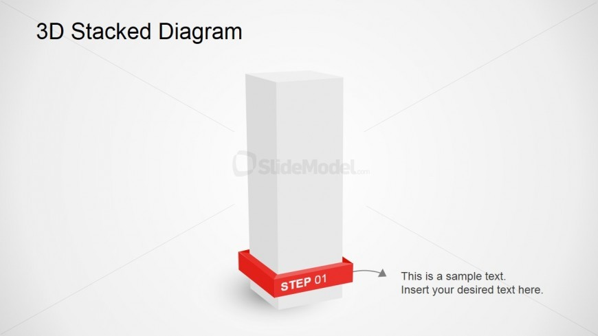Stacked 3D PowerPoint Diagram