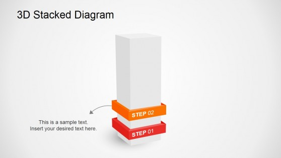 Second Step Slide Diagram for PowerPoint