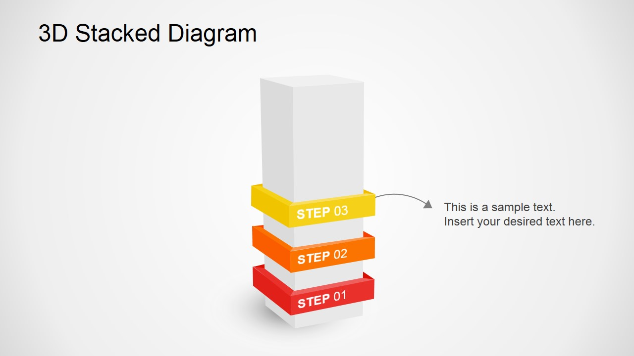 PowerPoint Stacking PowerPoint Diagrams With 3D Effects