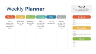 PowerPoint Templates of Business Weekly Planner