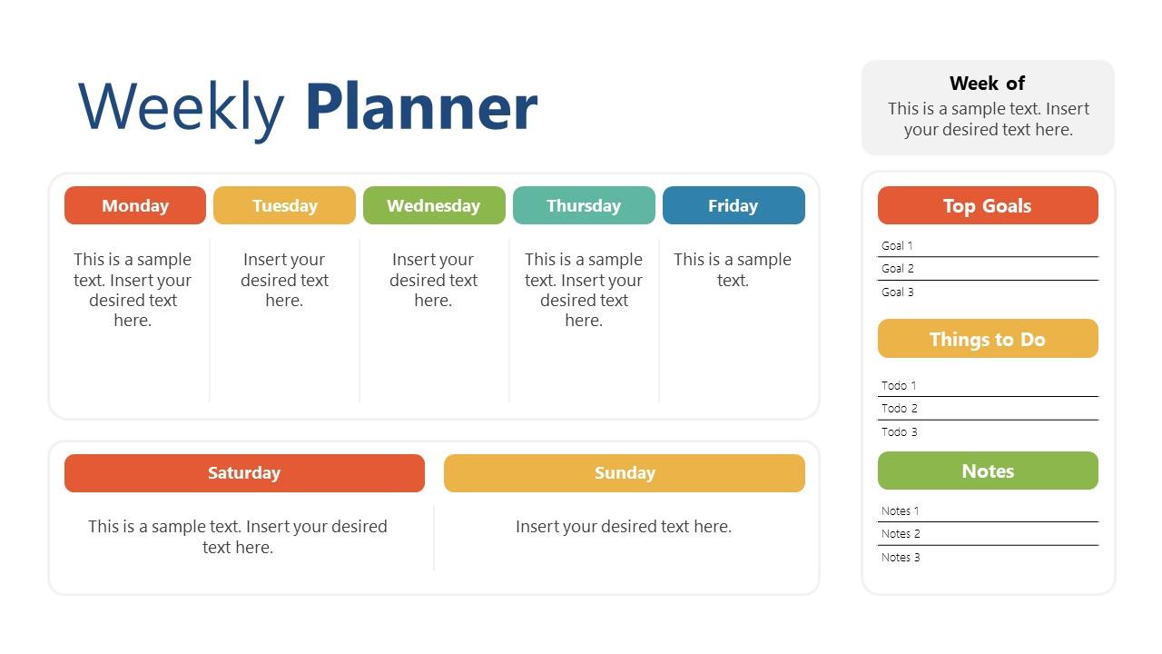 7 Days a Week Planner Template
