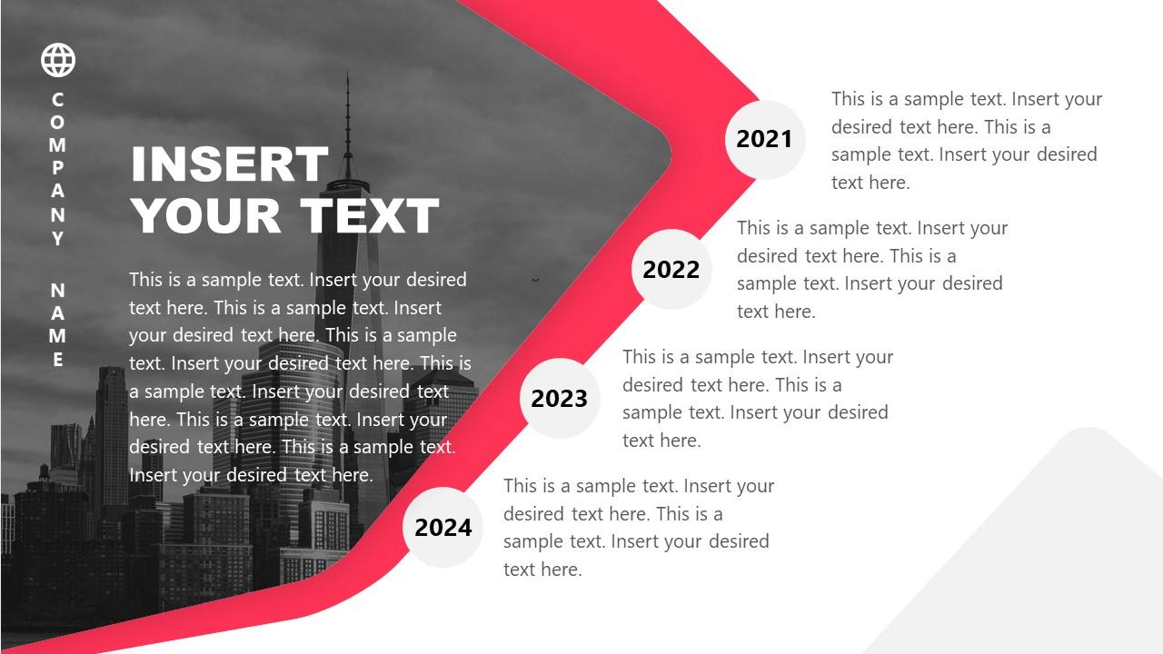 PPT Modern Curved Background Designs Timeline
