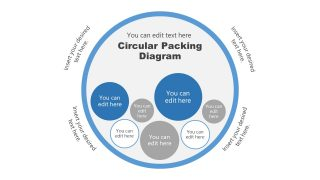 Inner Circle Bubble Chart Template