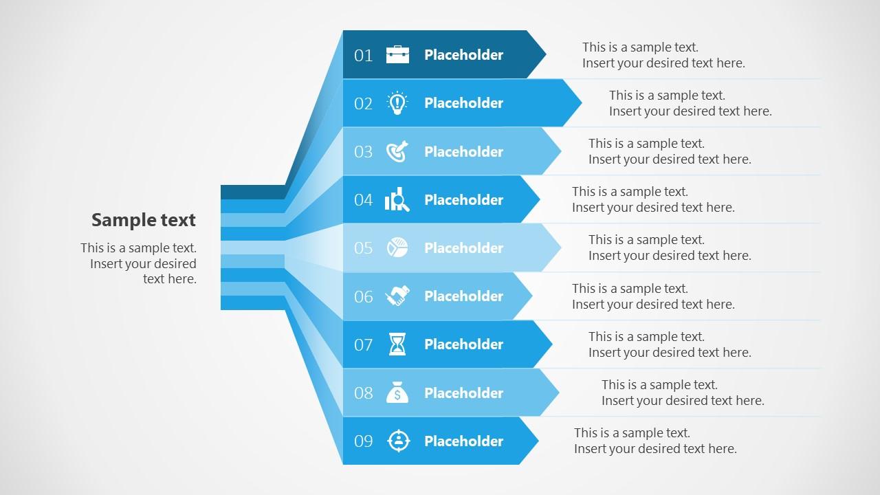 Waterfall Diagram Template 9 Steps