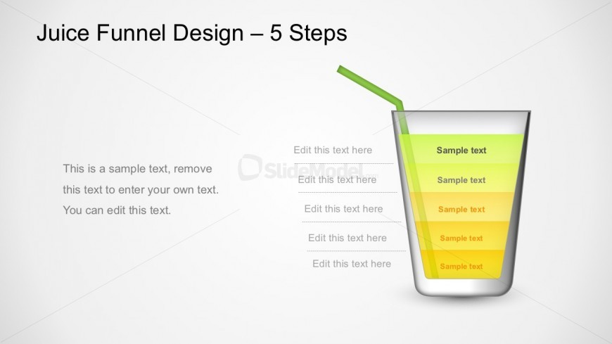 Juice Funnel Design PowerPoint Diagram