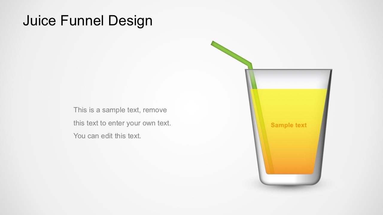 Juice Funnel Diagram Powerpoint Template