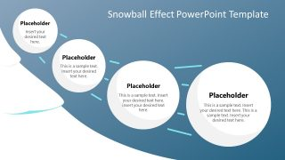 4 Steps Snowball Effects Diagram PPT