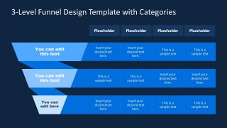 PPT Funnel Chart Template with Categories