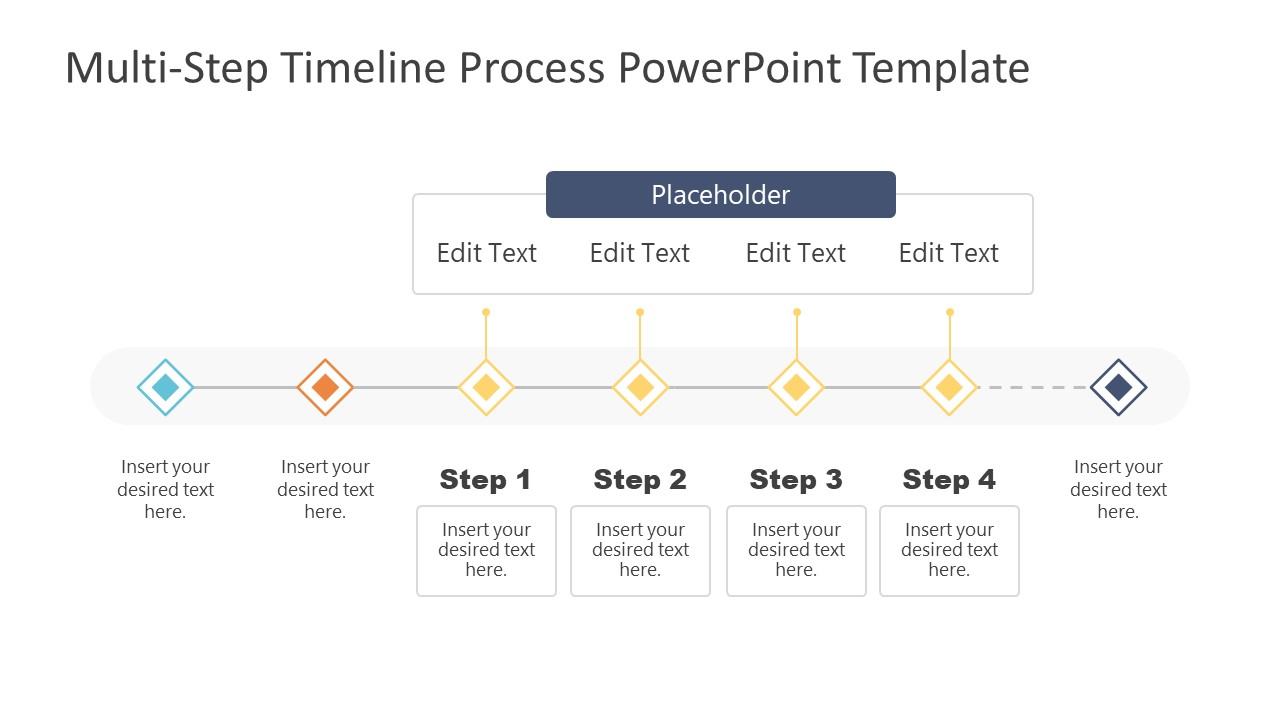 4 Steps Group Timeline PowerPoint Design