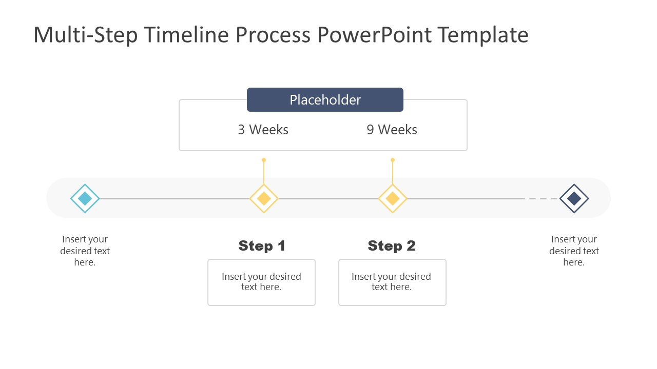 2 Steps Group Timeline Template Design