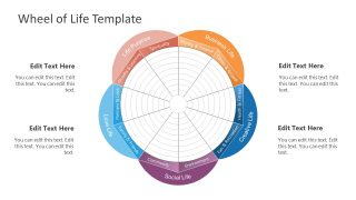 PowerPoint Diagram for Wheel of Life
