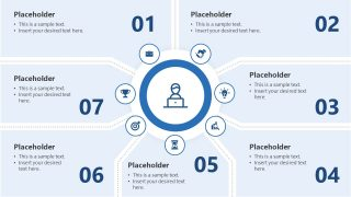 Template of 7 Parts PowerPoint Diagram
