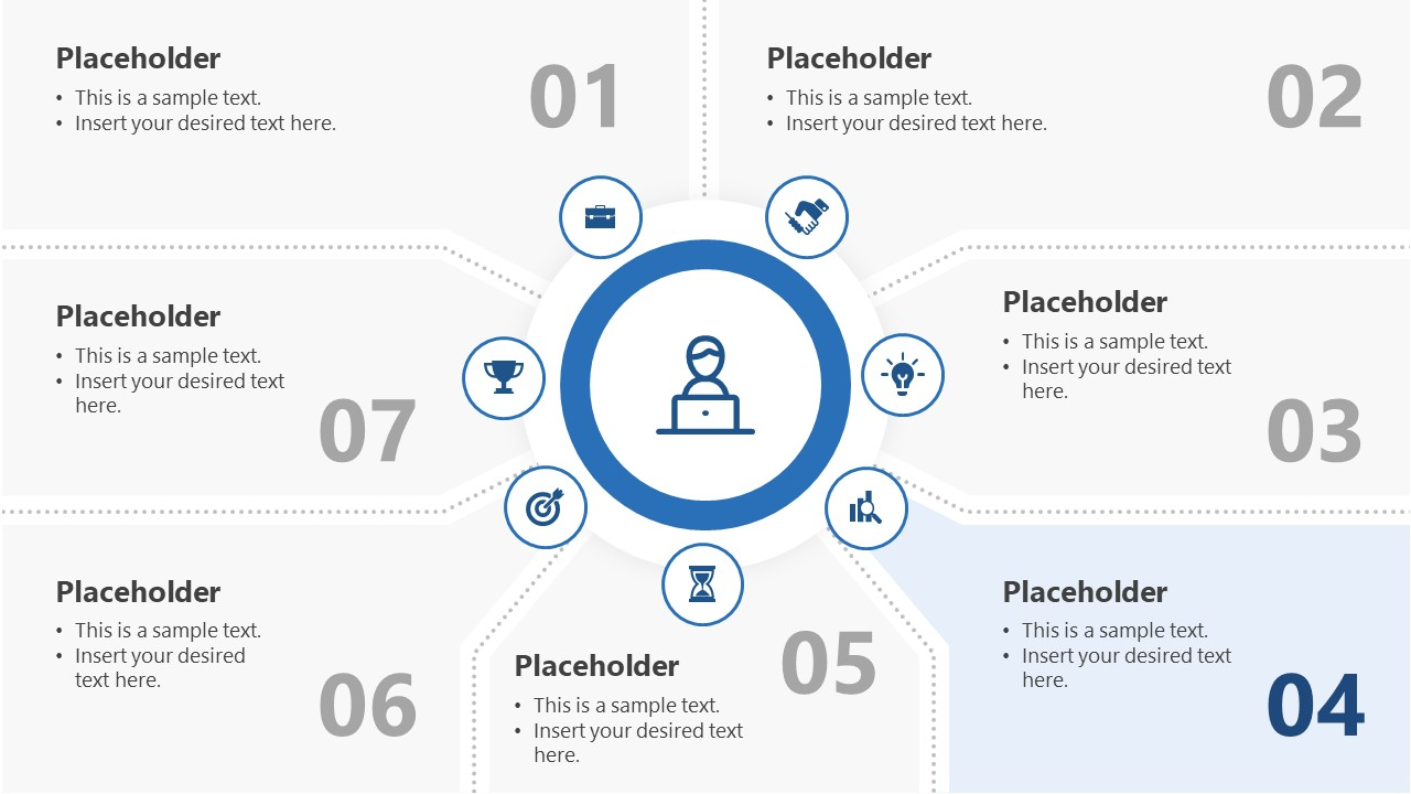7 Segments Step 4 PowerPoint Diagram