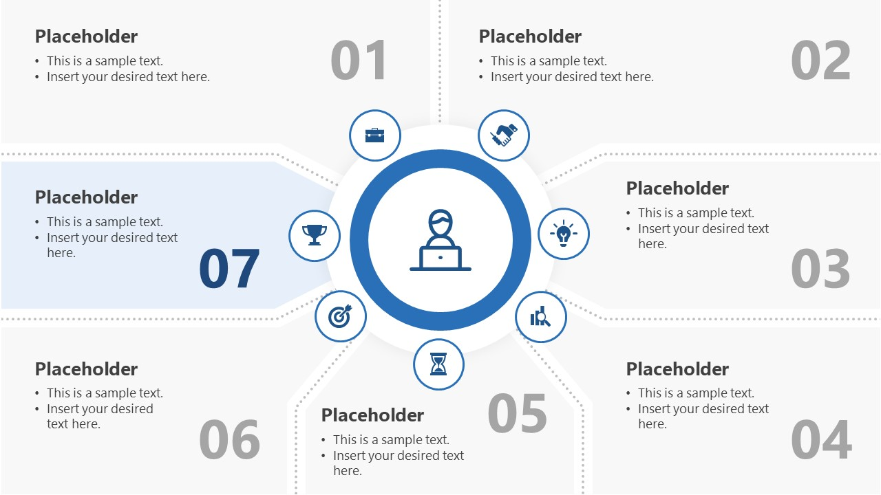 7 Segments Step 7 PowerPoint Diagram