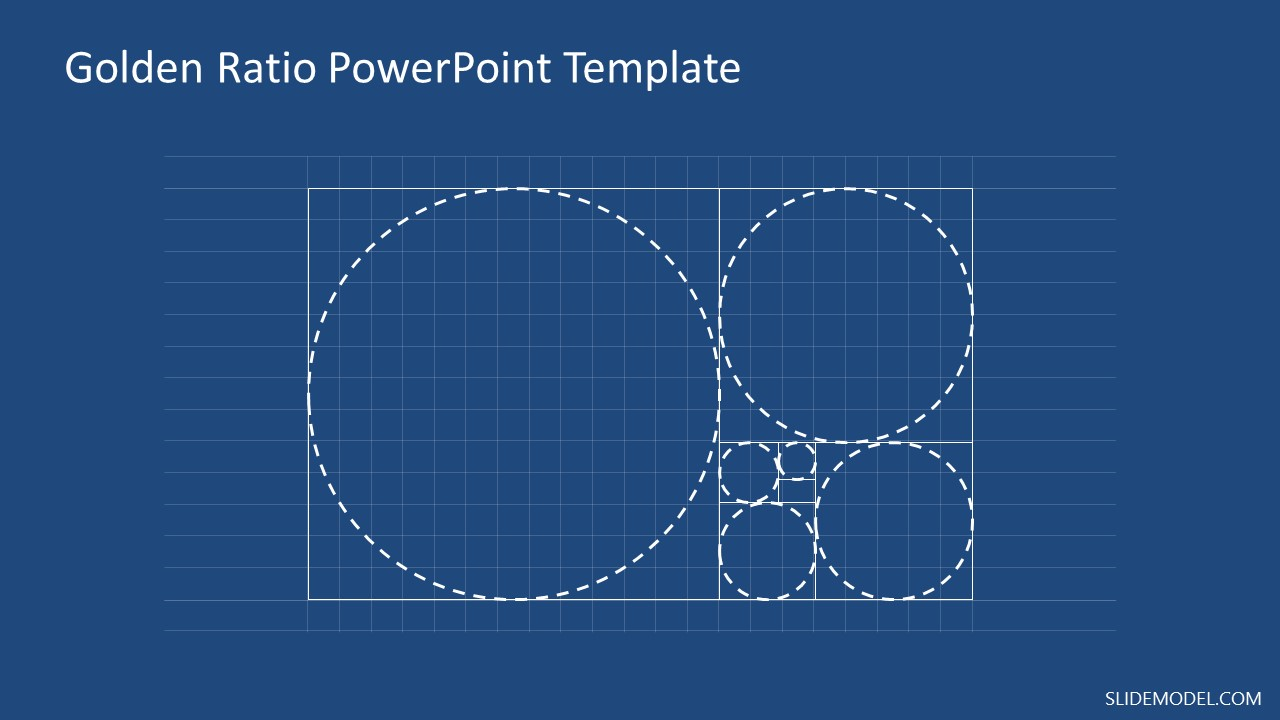 Geometric Grid Template for Golden Ratio