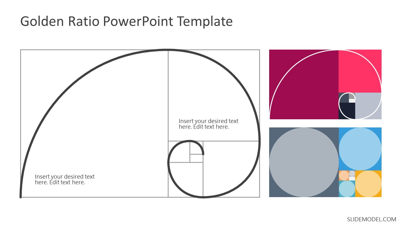 Slides of Golden Ratio Spiral Template