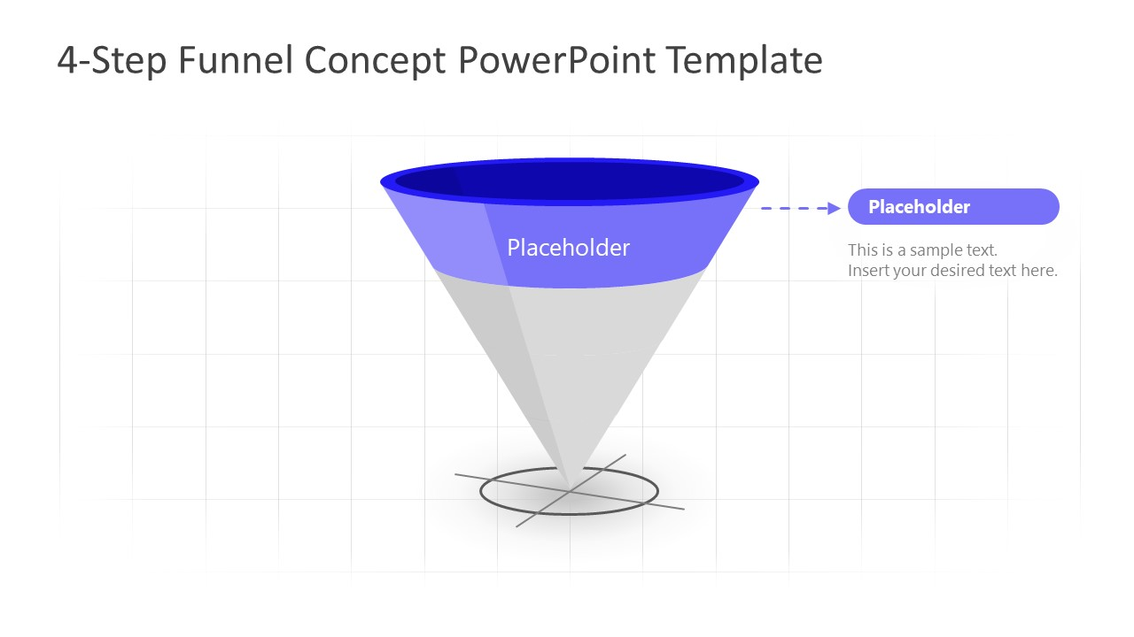 PowerPoint Funnel Diagram Stage 1