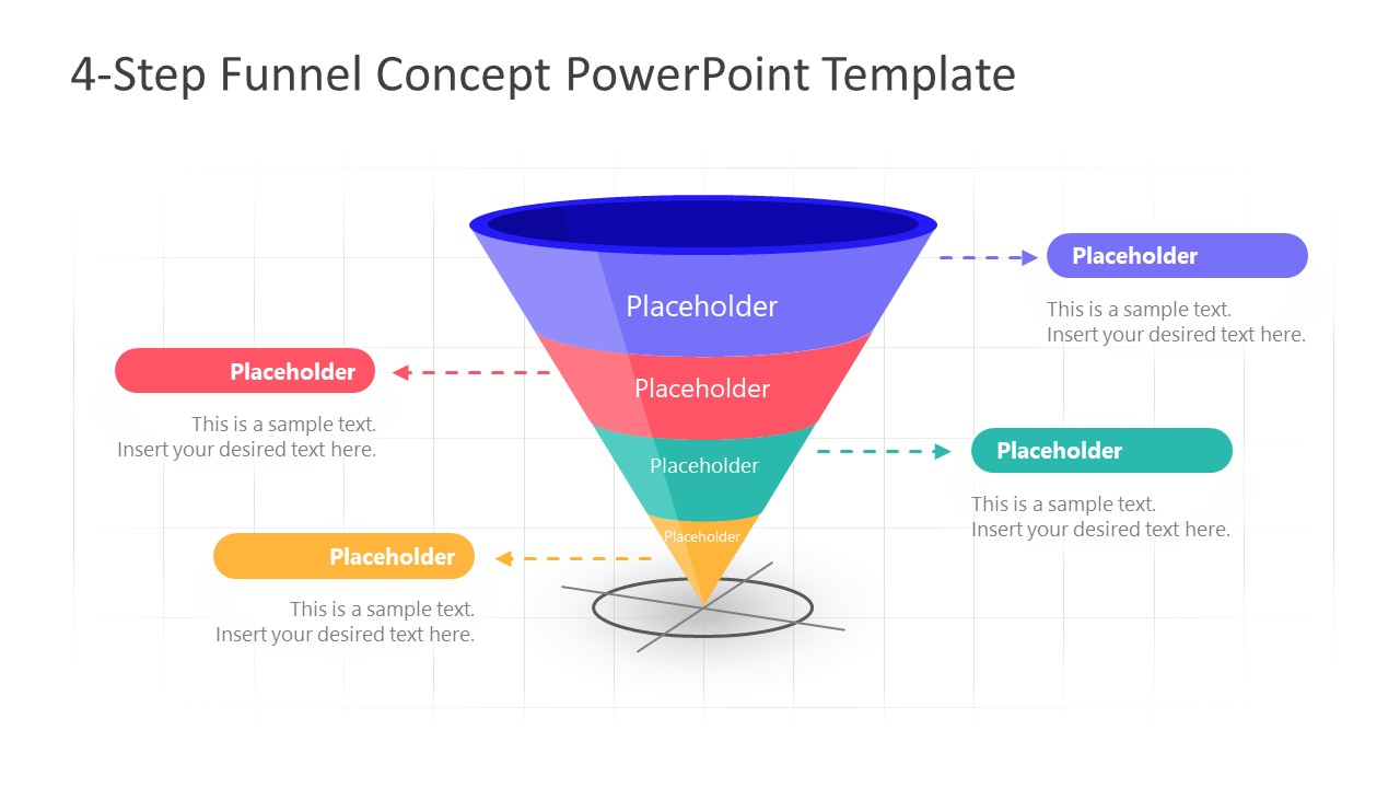 PowerPoint Funnel Diagram Stage 4