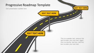 Editable Roadmap PPT Slides