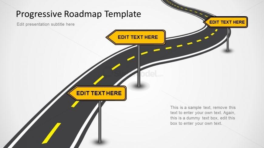 Editable Roadmap PPT Slides