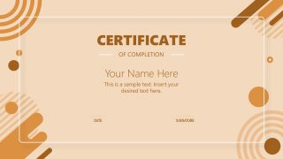 PPT Templates for Certificate of Completion