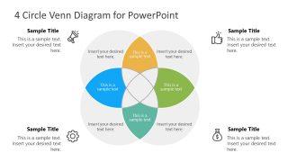 Presentation of 4 Steps Infographic Venn Diagram