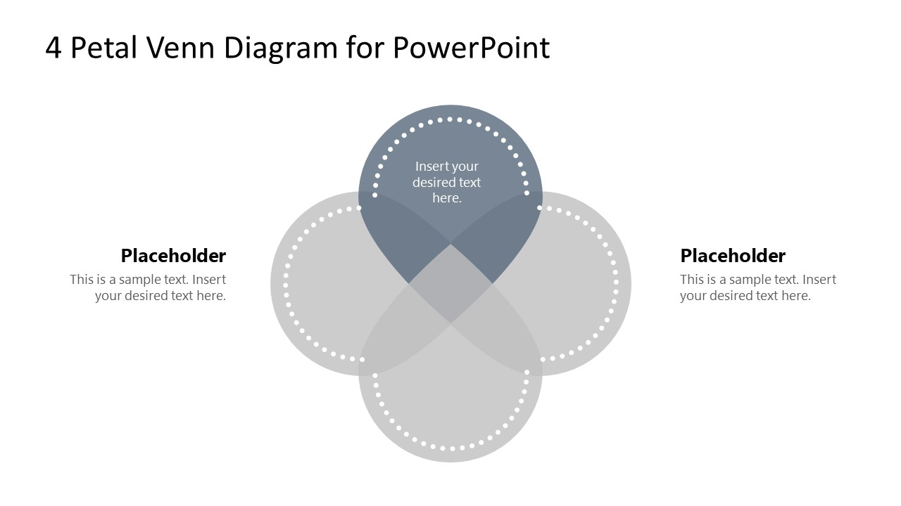 PowerPoint Petals Step 1 Venn Diagram