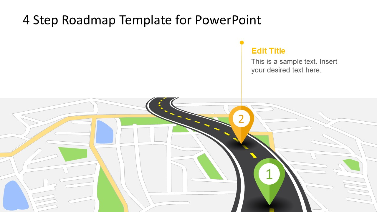 4 Step Roadmap Concept for PowerPoint