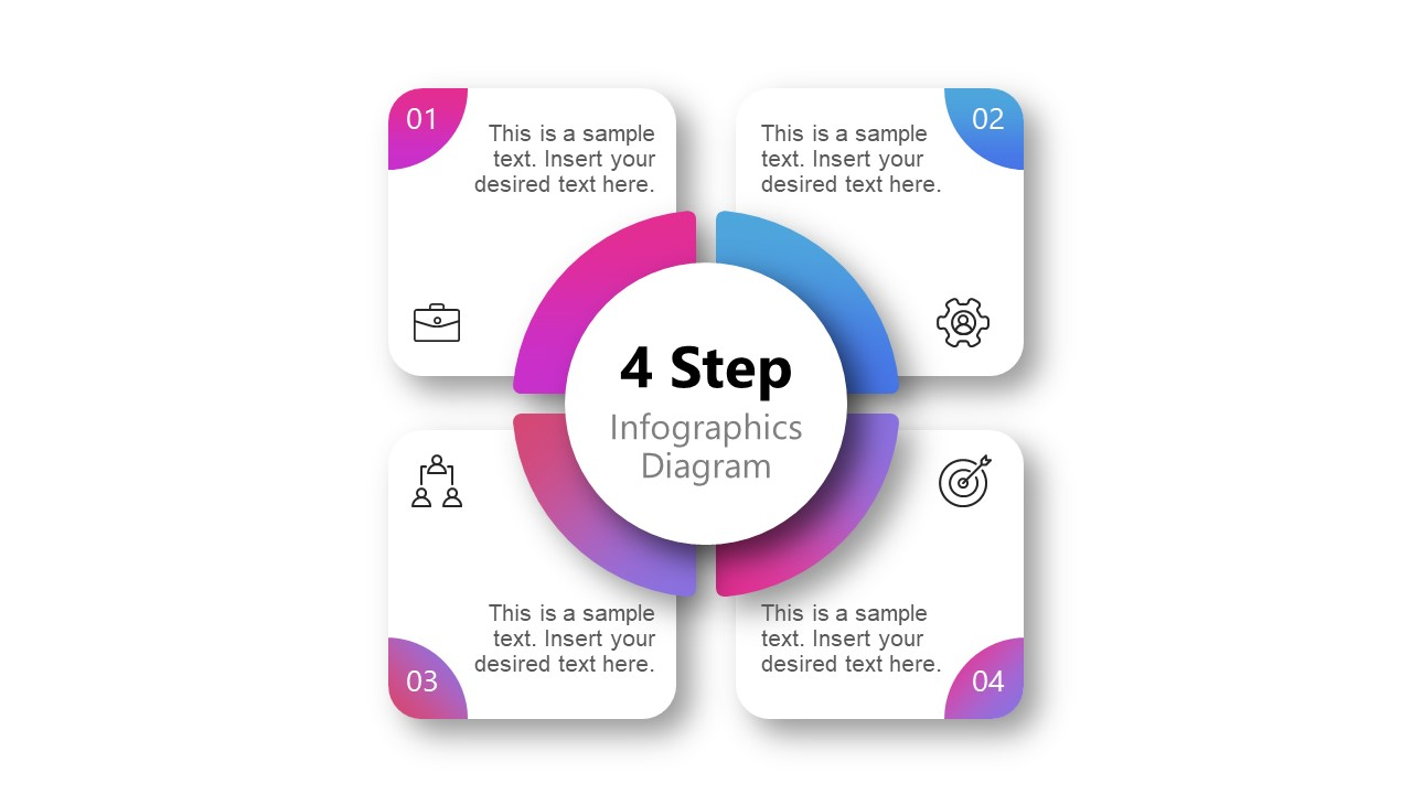 Templates for Infographic Diagram Gradients