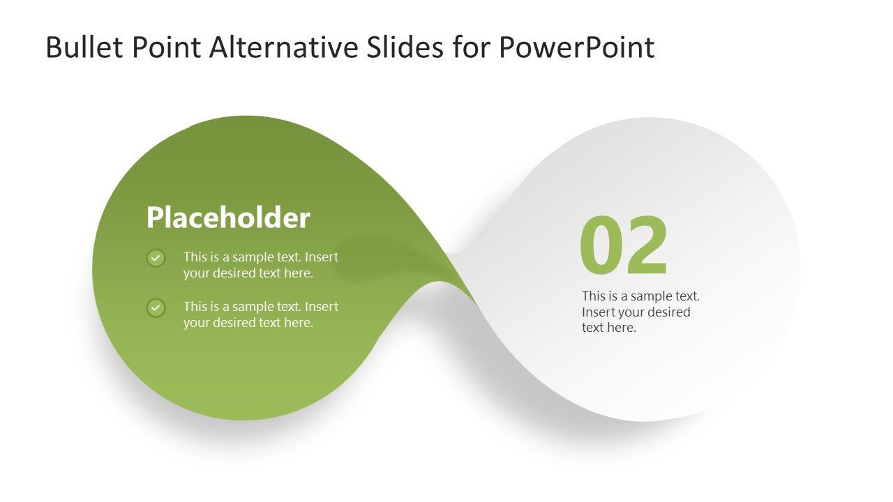 PowerPoint Bow-Shaped Diagram Step 2