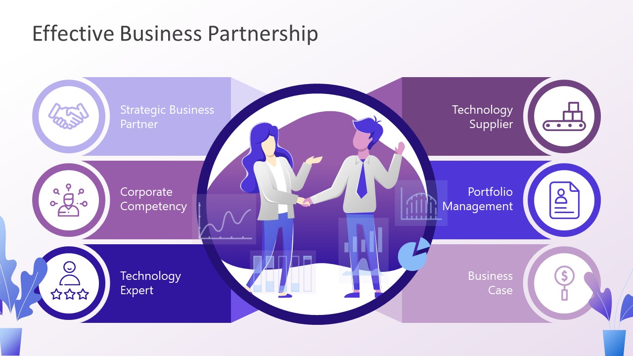 Business Partnership Comparison Slide Design